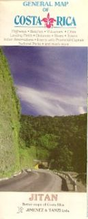 Road Map Costa Rica San Jose Cartago Limon Puntarenas