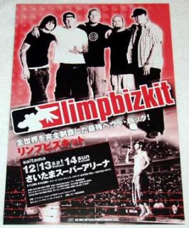 Limp Bizkit Concert CD Flyer Japan 2003
