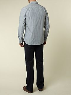 Howick Newport stripe shirt Green
