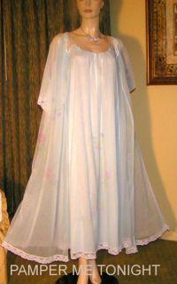 Chiffon Gown Olga Lingerie Negligee Nightgown Peignoir Robe Set