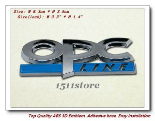 New Chrome Logo 3D Decal Emblem OPC Line