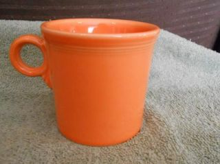 Laughlin Fiesta Ware Orange Tangerine Light House Coffee Cup Mug USA