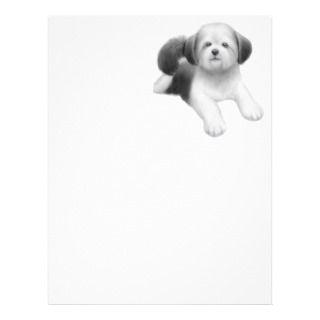 Shih Tzu Puppy Letterhead