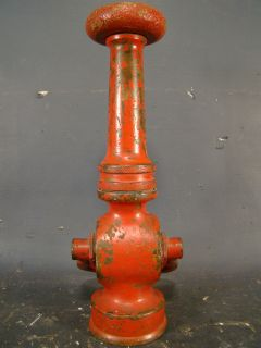 HISTORICAL Antique FIRE BOAT No. 1 Old NAUTICAL Alfco FIREMAN NOZZLE