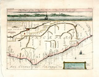 Antique Map Gold Coast Guinea Africa J Kip 1744