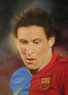 Lionel Messi Barcelona Soccer Canvas Photo Oil Painting