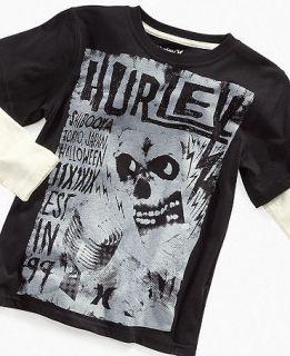 Hurley Kids T Shirt, Boys Skull Slider   Kids Boys 8 20