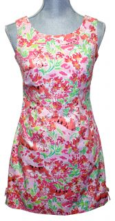 Lilly Pulitzer Delia Dress Lillys Pink Call Me Kitty Cat Print 8 New