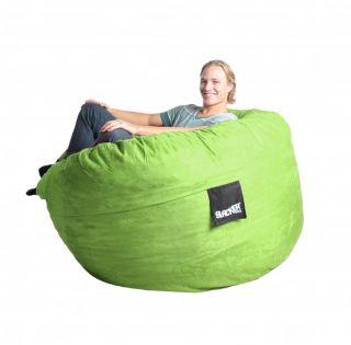 Lime Green Foam Bean Bag Chair Large Sac Love Gaming Sack XL Round
