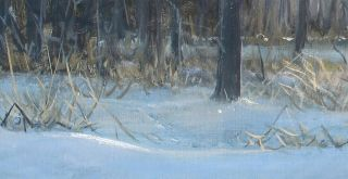 Frase Original Oil Painting Winter Landscape Snow