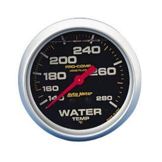 New Auto Meter 2 5 8 Pro Comp Liquid Filled Water Temperature Gauge