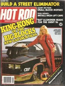 May 1983 Hot Rod Linda Vaughn Warren Johnson Hurst Olds