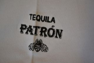 Patron Tequila Adidas ClimaLite Short Sleeve White Golf Polo Shirt
