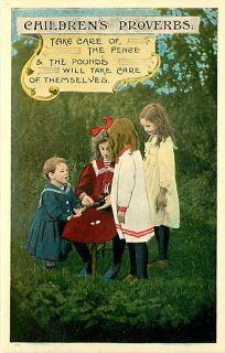 Childrens Proverbs Little Girls Money K47679