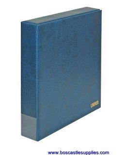 Lindner Stamp Album Eco Slip Case 4 Ring Binder Blue
