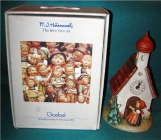 Hummel Clock 442 Chapel Time Century Collection TMK 6 w Germany w Box