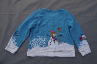 Ugly Christmas Sweater Design Options Snowmen Trees Sz S