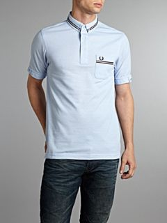 Fred Perry Twin tipped polo shirt with chest pocket Light Blue   House