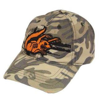 Mongoose Youth Kids Bike BMX Hat Cap Orange Camo Ripped