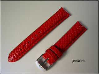 RED PYTHON WATCH BAND,STRAP FITS MICHELE,INVICTA,LITTLE MARCEL LM09WTC