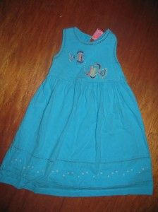 Khaki Kids Dress Aqua Girls Size 3T