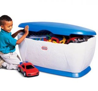 New Little Tikes Blue Giant Toy Chest Toy Box