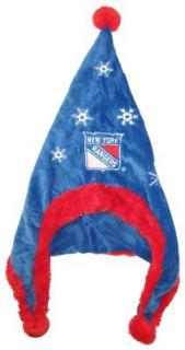 New York Rangers Hockey Soft Fleece Snowflake Dangle Hat