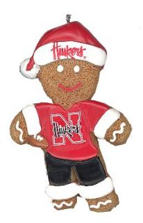 Nebraska Cornhuskers Gingerbread Man Person Resin Christmas Ornament
