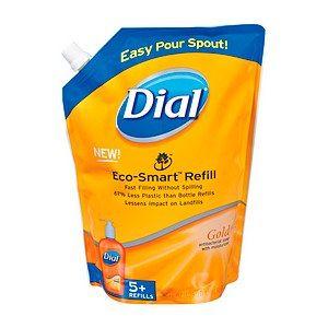 Dial Liquid Hand Soap Eco Smart Refill 5 Refills Gold 40 FL oz 1 18 L