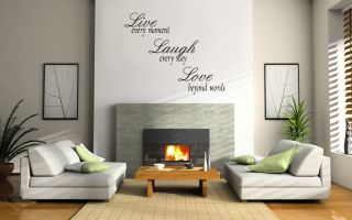 Vinyl Decal Wall Art Sticker Live Laugh Love
