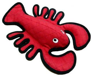 Tuffys Sea Creatures Larry Lobster Dog Toy