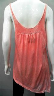 Local Celebrity Money Ladies Womens M Casual Tank Top Coral Orange