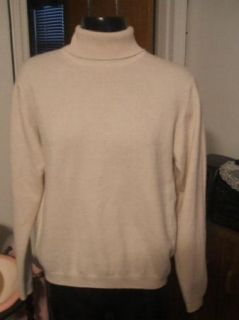 Lochmere 100 Cashmere Sweater Beige Soft Turtleneck Small S