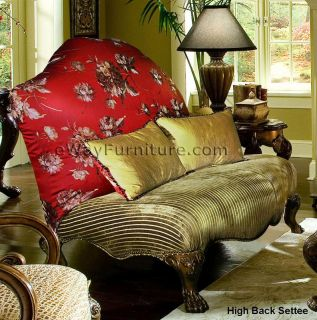 French Style White Brown Fabric Sofa Living Room Online Furniture