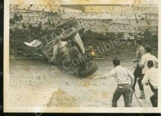 Dysinger Sprint Car Crash Auto Racing 1970 Photo