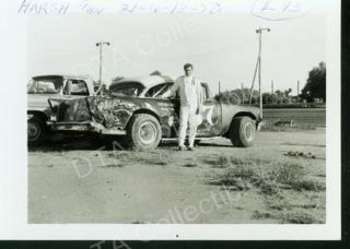 John Harsh 1957 Chevy Stock Car Racing Photo 1970
