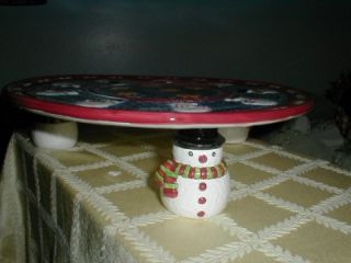 and STARS Pedestal CAKE Plate~House of Lloyd~CHRISTMAS~Home Interiors