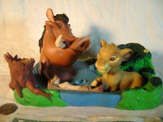 Disney Lion King Simba Timon Pumbaa Figure 1993 Tsumua International