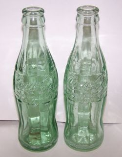 Two Vintage Logansport Indiana Coca Cola Bottles