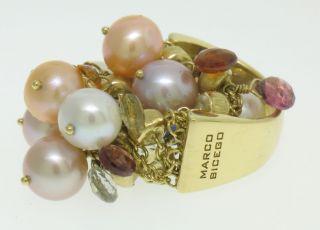 Marco Bicego Paradise 18K Gold Multi Gemstone Pearl Confetti Large