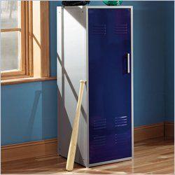 Furniture Teen Trends Navy Blue Home Storage Kids Locker Coat Rack