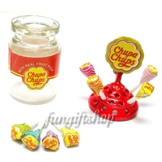 Dollhouse Miniature Lollipop Holder Chupa Chups Bottle Candy Sweet