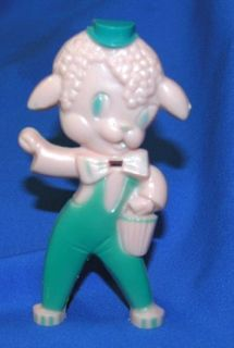 Hard Plastic Easter Lamb Sucker Lollipop Holder Candy Container