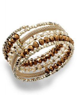 INC International Concepts Bracelet, 12k Gold Plated Glass Rondelle