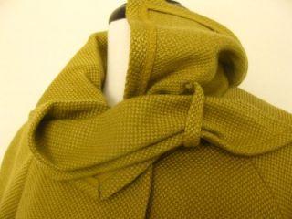 Anthropologie Tabitha Ascot Swing Coat Jacket in Mustard M 8 10