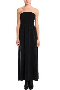 2012 Auth New $334 Joie Livia Strapless Silk Maxi Dress in Gray Color