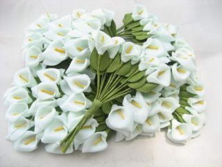 Sky Blue Lily Artificial Flower Heads Wedding Card Craft Lot 1 2 Long