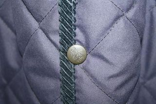 Burberry Brit Quilted Barn Jacket Long Nova Check Trench Coat Large