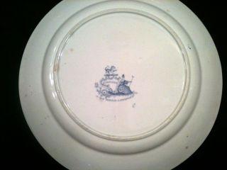 ANTIQUE T J & J MAYER LONGPORT FLOW BLUE PLATE CIRCA 1830 45 LARGE