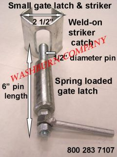 Weld in Spring Loaded Cattle Corral Gate Latch L Duty S